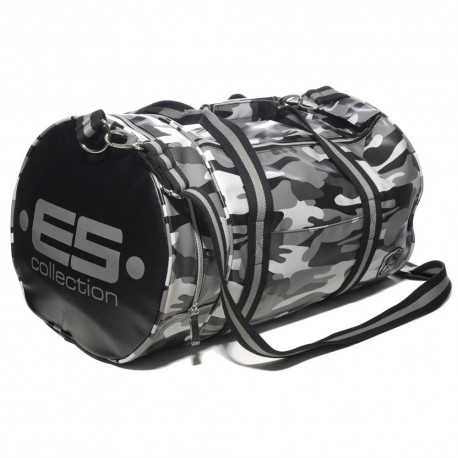 Athletic Sports Bag - Grey Camouflage