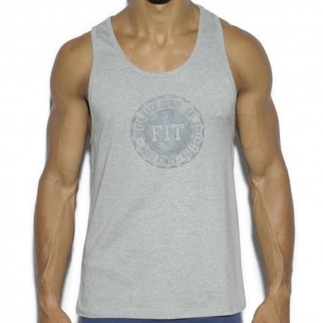 Basic Cotton Fit Tank Top - Grey