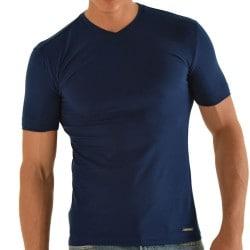 T-Shirt Slim Fit Marine Roberto Lucca