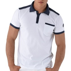 Polo Regular Fit Blanc Roberto Lucca