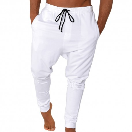 Massimo Sarouel Sweat Pants - White