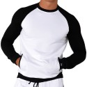 Sweat-Shirt Sporty Blanc - Noir