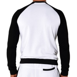 Sweat-Shirt Sporty Blanc - Noir Roberto Lucca