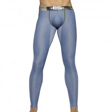Caleçon Long Pique Jeans Bleu