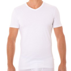 T-Shirt Stretch Cotton Blanc Bikkembergs