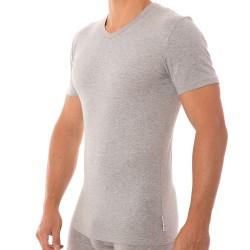 T-Shirt Stretch Cotton Gris Bikkembergs