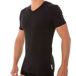 T-Shirt Stretch Cotton Noir Bikkembergs