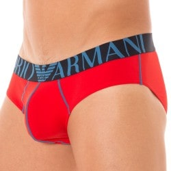 Slip Brushed Micro Rouge Emporio Armani
