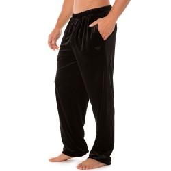 Pantalon Shiny Velvet Noir Emporio Armani