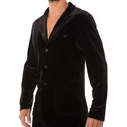 Shiny Velvet Vest - Black Emporio Armani