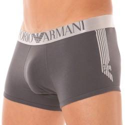 Boxer Shiny Logo Band Gris Emporio Armani