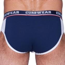 Slip Cheeky Lad Blanc - Marine Curbwear