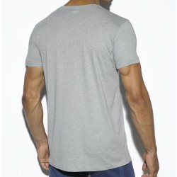 T-Shirt Basic Cotton Fit Gris ES Collection
