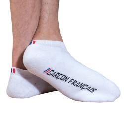 Bobby Socks - White Garçon Français