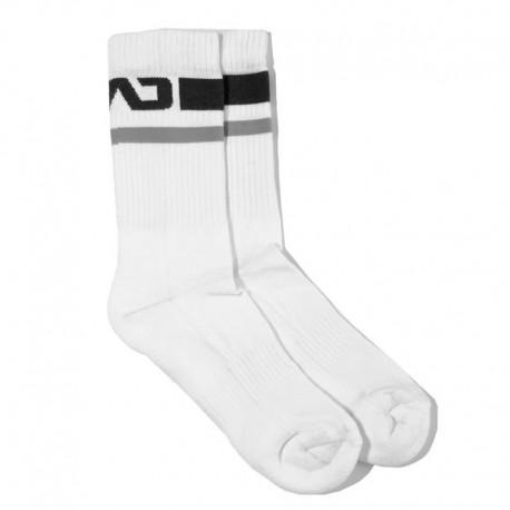 Addicted Chaussettes Basic Sport - Blanc - Noir