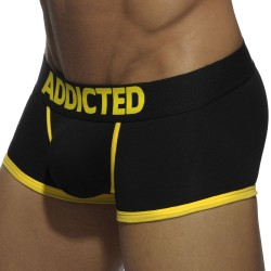 Shorty Basic Colors Noir - Jaune Addicted