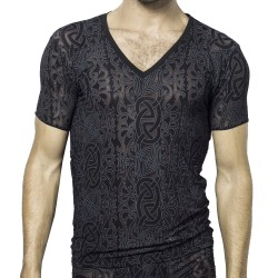 Devore Tattoo T-Shirt - Black L'Homme invisible