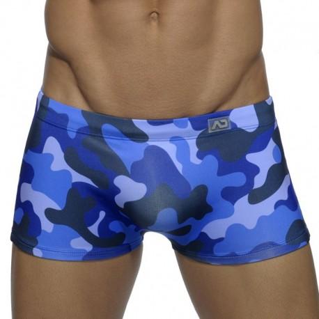 Addicted Boxer de Bain Camouflage Marine