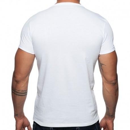 Addicted T-Shirt Military Blanc