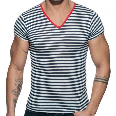 Addicted T-Shirt Sailor Marinière - Rouge