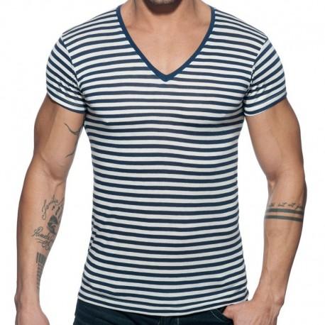 Addicted T-Shirt Sailor Marinière - Marine