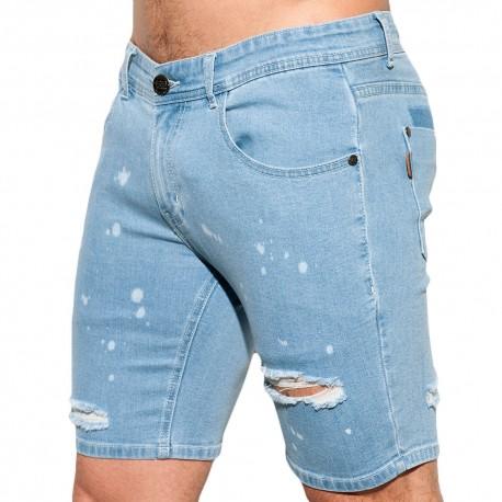 ES Collection Bermuda en Jeans Ripped Indigo