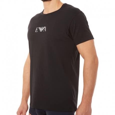 Emporio Armani Lot de 2 T-Shirts Cotton Stretch Noirs