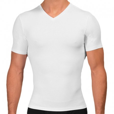Rounderbum T-Shirt Cotton Compression Blanc