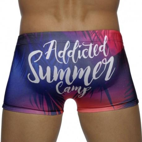 Addicted Summer Camp Digital Swim Boxer - Tropical