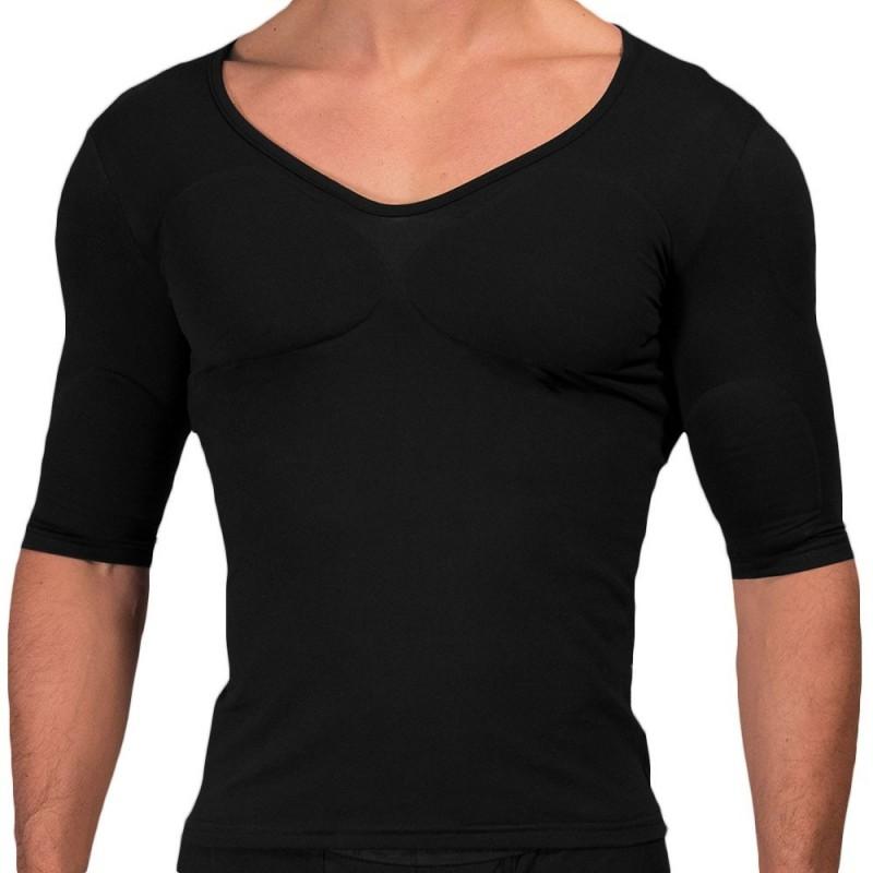 Rounderbum Padded Muscle T-Shirt - Black