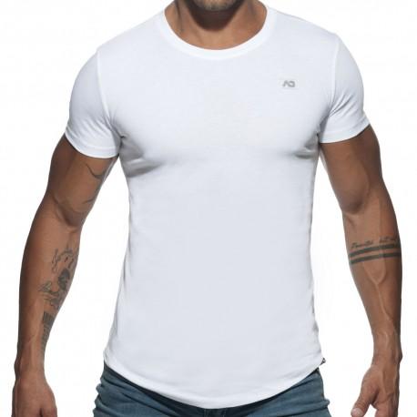 T-Shirt Basic U-Neck Blanc