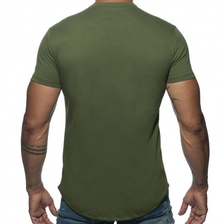 T-Shirt Basic U-Neck Kaki