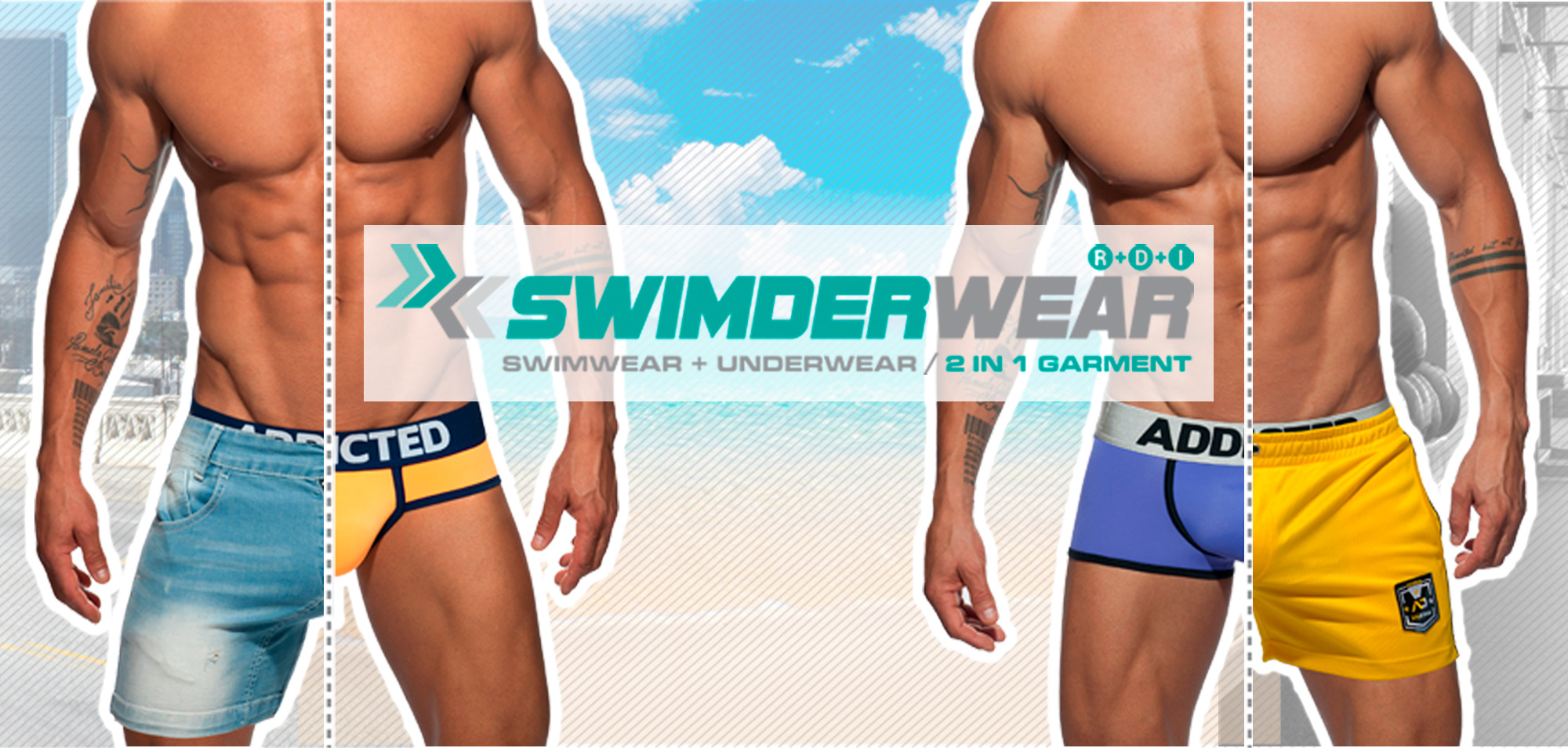 d2e2b04513 Addicted Swimderwear : underwear + swimwear 2 in 1 garment | Underwear